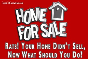 Rats! Your Home Didn't Sell, Now What Should You Do?