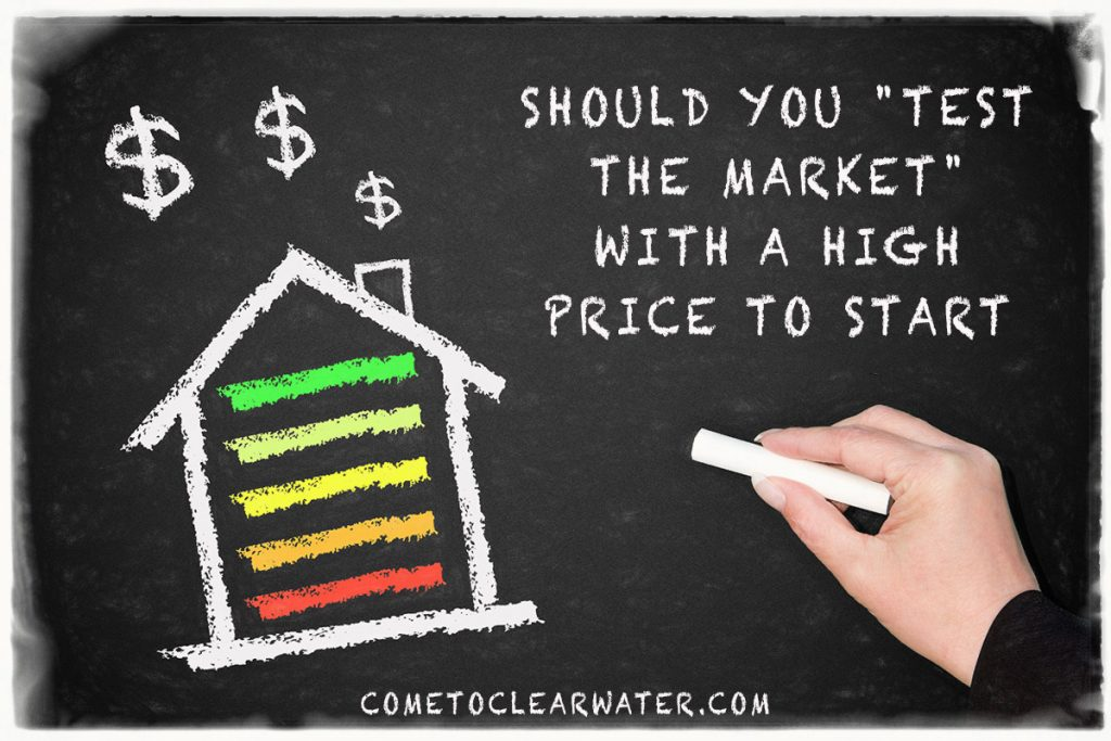 "Should You ""Test The Market"" With A High Price To Start"