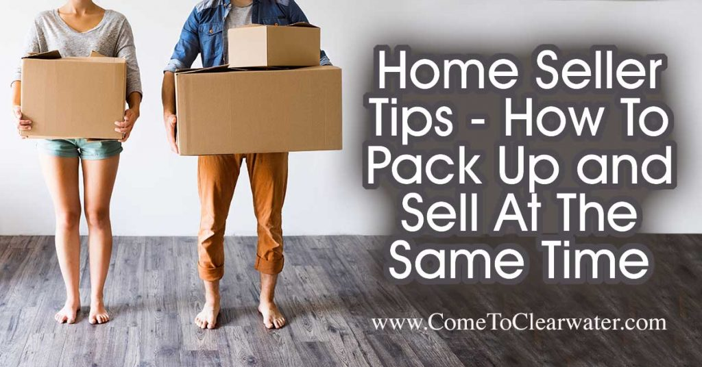 Home Seller Tips - How To Pack Up and Sell At The Same Time... Whatever the reason, you need to pack up and get your home sold. Well, since you also need to get your home into saleable shape, kill two birds with one stone and declutter while packing up.